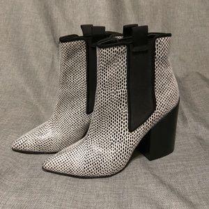 Asos chelsea block heel booties